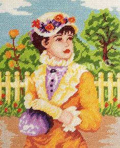 Cod produs Mademoiselle Culori: 23 Dimensiune: 12 x Pret: lei Cross Stitching, Cross Stitch Embroidery, Different Styles, Needlepoint, Miniatures, Crochet, Painting, Chic, Frames