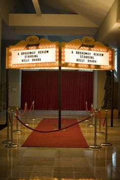 Our Theatre Marquee Prop can be personalized for your event!