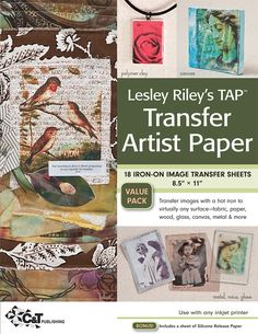 The null of the Lesley Riley's TAP Transfer Artist Paper Pack: 18 Iron-on Image Transfer Sheets x 11 by Lesley Riley at Barnes & Noble. Image Sheet, Secret Santa Gifts, Little Doll, Fabric Paper, Fabric Books, Fabric Ribbon, Transfer Paper, Photo Transfer, Amazon Art