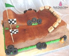 Photo of Rock Candy Cakes - Livermore, CA, United States. Sculpted Dirt Bike Track Groom's Cake