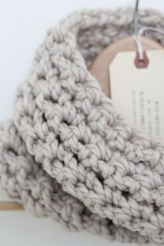 Cream Chunky Handmade Cowl Infinity Scarf by madebyRICE on Etsy (more colors available.. and coming soon!)