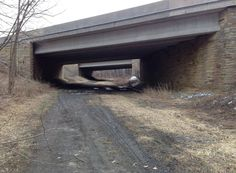 Here's a view of the intersection of the old and the new. When the new US Route 22 was built in the 1980s, the old right-of-way of the Allegheny Portage Railroad was preserved by building this overpass just beyond the park boundary. (dkb)