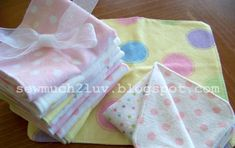How to make cloth baby wipes using flannelette. SewMuch2Luv blog