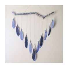 """Feather and Driftwood Wall Hanging // Bohemian home decor // The """"Spread Your Wings"""" Edition Feather Wall Decor"""