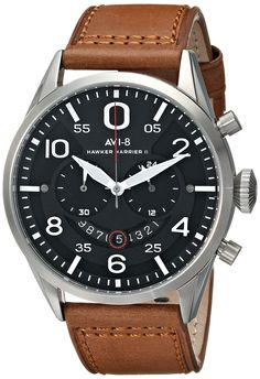 AVI-8 Men's AV-4031-02 Hawker Harrier II Analog Display Japanese Quartz Brown Watch