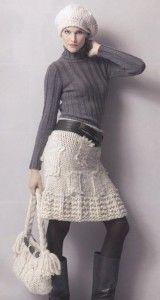 100 моделей вязаных юбок спицами и крючком — зимние и летние модели. Часть 2