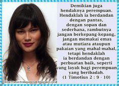1 TIMOTIUS 2 : 9 - 10 - AYAT EMAS ALKITAB KRISTIANI