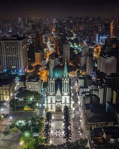 Catedral da Sé by @soudroneiro #saopaulocity #EuVivoSP #catedraldase Paulistano, South America Travel, Central America, City Photo, Beautiful Places, Castle, Around The Worlds, Skyline, Landscape