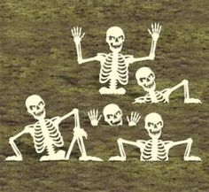 "New Halloween Lawn Art Yard Shadow Silhouette ""Rising Skeletons ..."