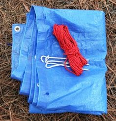 aluminum stakes: Aluminum tent stakes weigh virtually nothing. Combined with a tarp, and about 25 feet of paracord, the items can be made into an effective emergency shelter.