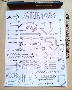 Add doodles to your artwork or bullet journal Bullet Journal Titles, Bullet Journal Banner, Journal Fonts, Bullet Journal Notebook, Bullet Journal Aesthetic, Bullet Journal Inspiration, Bullet Journals, Doodles, Sketch Notes