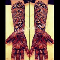 Indian wid floral heena design