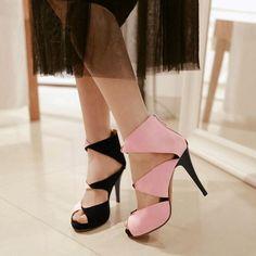 58c74ca65ddb96 Mixed Colors Gladiator pumps sandals