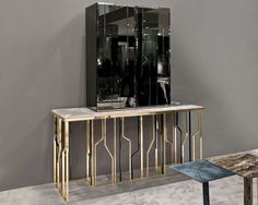 Contemporary console tables are essential to design pieces in any modern interior, a modern console table is a bright addition to a living or dining room. Console Furniture, Steel Furniture, Luxury Furniture, Modern Furniture, Furniture Design, Furniture Ideas, Console Table Styling, Modern Console Tables, Sofa Table Design