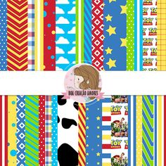 Loja: http://www.elo7.com.br/papel-digital-toy-story-i/dp/54447F   #scrapbboking #toystory #festa #papel #printable