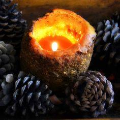 Autumn Candle, Pinecones
