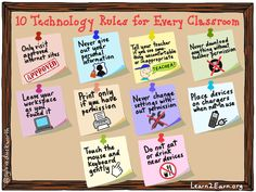 Bring these rules for technology use into your classroom to help students learn proper use of the Internet and stay safe while they do it!