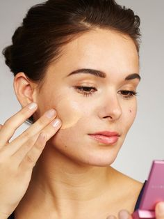 Apply foundation to help set your concealer.