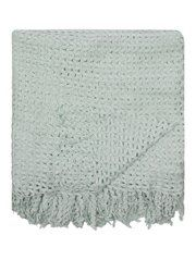 George Home Duck Egg Ric Rac Knitted Throw