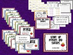 This huge 76 page packet on prefixes and suffixes will be sure to have students engaged and understanding what prefixes and suffixes do to words. Common Core Activities, Word Work Activities, Reading Activities, Educational Activities, Teaching Reading, Teaching Ideas, Reading Lessons, Learning, Vocabulary Word Walls