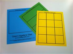 For Hands-On Investigations -- Giant Algebra Tiles for the Whiteboard - Download at mathgiraffe.com