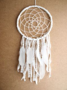 Dream Catcher White Days With Pure White Feathers by bohonest