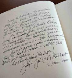 Guest Book at Miró Hotel