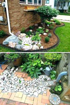 44 magical side yard and backyard gravel garden design ideas 44 - Outdoor Diy Garden Yard Ideas, Lawn And Garden, Garden Projects, Backyard Ideas, Spring Garden, Front Yard Landscaping, Backyard Landscaping, Landscaping Ideas, Inexpensive Landscaping