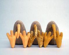 Kiwi Bird Plush Toy Peanut and Yellow by andreavida on Etsy, €22.00