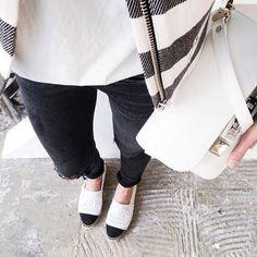Minimal + Classic | Chanel espadrilles | Proenza Schouler ps11 bag.