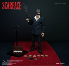 "Enterbay Scarface ""War Version"" 1:6 Scale Figure"