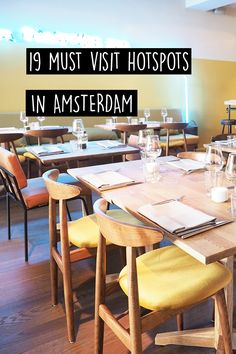New hotspots in Amsterdam // Amsterdam City Guide Amsterdam Travel Guide, Visit Amsterdam, Anne Frank House, Travel Goals, Travel Tips, Red Light District, Urban Planning, Most Visited, Cafe Restaurant