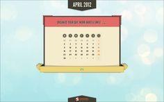 April 2012 Calendar. #SmashingMagazine