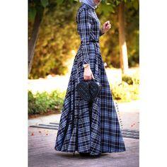 Checkered Print Maxi Dress