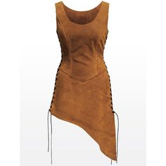 Wench Tunic light brown High quality leather products from Andracor,... ($240) ❤ liked on Polyvore