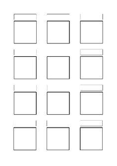 Vorlagenseite für Zentangle Muster Einfach downloaden!!! http://www.cofono.de/Mustersammlung