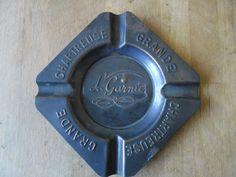 Rare ancien cendrier métallique La Grande Chartreuse L. Garnier Voiron  | eBay