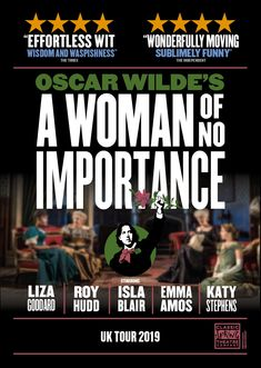 Design of theatre poster for The Importance Of Being Earnest UK Tour by Design for Classic Spring Productions. Posters Uk, Oscar Wilde, Theatre, Typography, Wisdom, Tours, Seasons, Spring, Classic