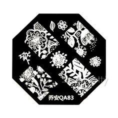 $2.99 1Pc Nail Art Stamp Template Charming Arabesque Cluster Flower Vine Pattern QA83 - BornPrettyStore.com