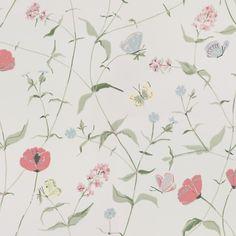 Third large image of Christophe Creme Cottage Wallpaper, Dining Room Wallpaper, Kitchen Wallpaper, Cool Wallpaper, Fabric Patterns, Print Patterns, Pattern Print, Ruby Room, Blue Wallpapers