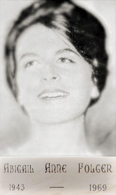 "Abigail Folger"" Cofee Heiress ...."