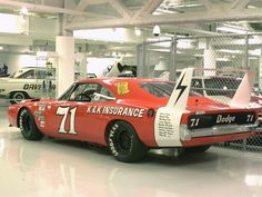 Dodge charger Verizon race car | 1969 Dodge Charger Daytona NASCAR Race Car Hemi Orange rvl WPC Museum ...