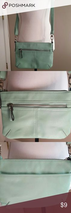 Crossbody pocketbook Mint green crossbody multi compartment bag Merona Bags Crossbody Bags