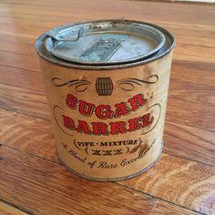Vintage SUGAR BARREL XXX Mixture Middletons Tobacco Tin ~ VG cond ~ 1950s