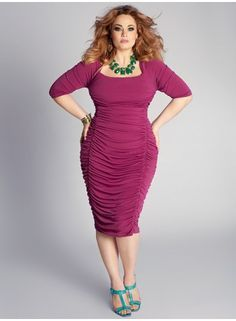 GORGEOUS! Great color combo! I like the fit of the dress as well and the neckline!