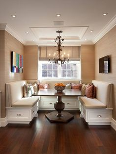 Would you like a built-in dining area like this in your home?