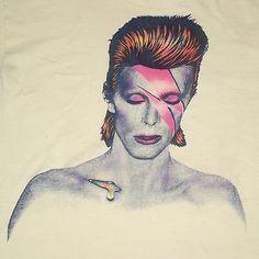 Vintage 1973 David Bowie Aladdin Sane Promo Shirt Large Mega Rare