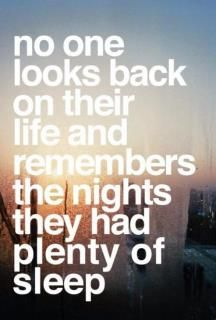 funny. true. but the memory of nights awake seems fuzzy as well. :)