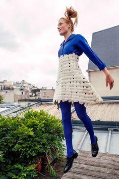 Elisabeth Berthon designs felt garments and accessories for her fashion line, Lola Bastille, available online. Elisabeth lives in France. Bastille, Fashion Line, Bell Sleeve Top, Blouse, Skirts, Felting, Inspiration, Clothes, Tops
