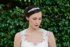 The Ivory and Co. Charlize is a perfect choice for Art Deco styling. Plenty of sparkle and works with lots of gowns